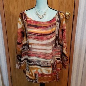 Dress Barn Short Sleeve Blouse Size 1X